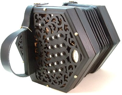 Clover 30 Key Anglo Concertina, Ebonised Ends